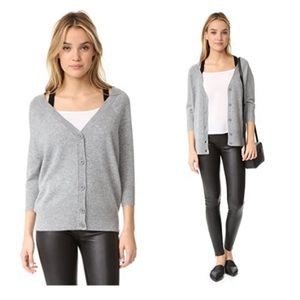 Theory Saline B. Cold-Shoulder Cashmere Cardigan
